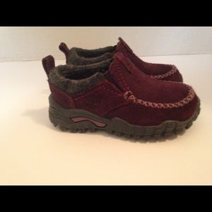 Purple suede timberland shoe size 5 1/2 toddlers